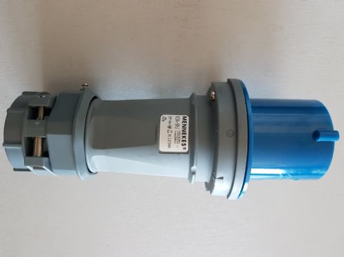 Mennekes 1234A 63amp 5pin 230 / 240v IP44 Blue Plug